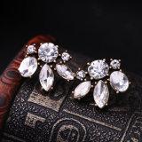 Dernière mode clip plaqué or rose Zircon Earring Design