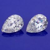 아름다운 배 모양은 얼음을 잘랐다 보석을%s 1.5 캐럿 Moissanite 다이아몬드를 분쇄했다