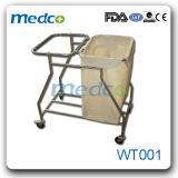 病院のステンレス鋼のクリーニングの洗濯カート、医学の不用なトロリー