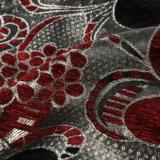 新しい黒くおよび赤く美しい花の整形シュニールファブリック
