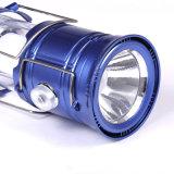 USB/Solar 비용을 부과를 가진 옥외 재충전용 LED 야영 손전등