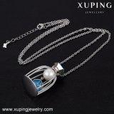 목걸이 00407 Xuping 도매 형식 얇은 사슬 목걸이, Swarovski 모조 진주 보석에서 결정