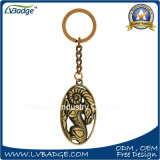 regalo de promoción de metal personalizados Llavero de oro