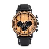 Deportes Chronograph&#160 de los hombres; Reloj Wooden con el movimiento de Japón