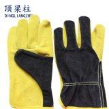 10.5 '' gants de soudure bon marché de sûreté de cuir fendu de vache d'usine