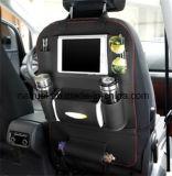 Sostenedor de taza de cuero del organizador del asiento trasero del coche de la PU