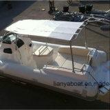 Bateau gonflable extérieur de coque de fibre de verre de canot automobile 250HP de Liya 8.3m