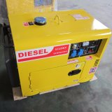 генератор 5kw 6kw 7kw охлаженный воздухом, портативный молчком тепловозный генератор