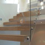 madera sólida moderna del hogar/de la compañía que flota la escalera/las escaleras rectas