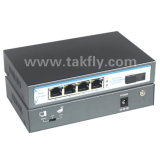 Jeûnent 4 le Commutateur Ethernet du Port 100m 60W Poe