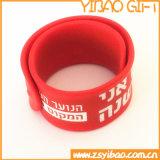 Wristband/braccialetto di schiaffo del silicone del commercio all'ingrosso del regalo di promozione