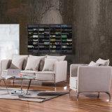 Tipo disposizione dei posti a sedere del tessuto del sofà del salotto con il tipo di svago della base del blocco per grafici del metallo