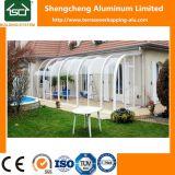 Sunroom personalizzato del giardino con il rivestimento della polvere
