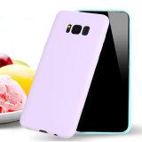 Escudo contínuo barato do telefone da parte traseira do caso da cor TPU dos doces para a galáxia S8 de Samsung