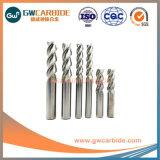 4*16*4*L100*HRC55アルミニウム炭化物3のフルート平らなEndmills