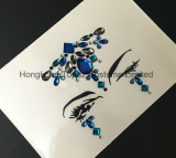 2018 etiquetas engomadas cristalinas de la carrocería de las etiquetas engomadas del Rhinestone de la piel de la cara popular de la etiqueta engomada (TP-009)