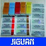 Brillante papel de buena calidad Arte impresión personalizada Vial de Farmacéuticos de verificación