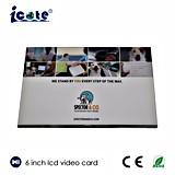 6 cartão video da polegada TFT LCD, cartões video do LCD, folheto video