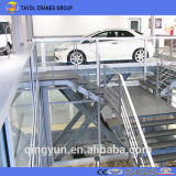 Stationäres Garage-Auto-Höhenruder Scissor Typen bewegliche hydraulische verwendetes Auto-Aufzüge für Verkauf