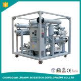 La línea de alta tensión en el sistema de tratamiento de aceite del transformador de vacío