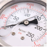 De Olie van uitstekende kwaliteit - de gevulde Manometer van het Roestvrij staal/de Gewone Maat van de Druk van het Bewijs van de Trilling