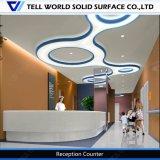 Счетчик приема офиса Corian самомоднейшей конструкции искусственний мраморный
