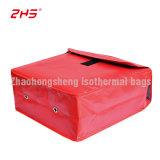Красный кожаный чехол из ПВХ изоляцией обед доставку продовольствия ручки сумки