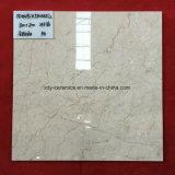 Azulejo de suelo esmaltado Polished lleno natural de mármol blanco de construcción de China del material del azulejo caliente de la porcelana con la superficie 2