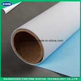 2018 de la base de agua caliente de Venta de lona de poliéster impermeable con dorso azul mate impresos digitales