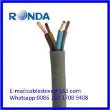 4 cable eléctrico flexible del sqmm de la base 10