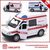 1: 32 света и музыки машина скорой помощи и полицейский автомобиль модели игрушек