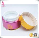 Envase de cerámica de aluminio rosado para la crema del ojo