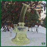 De gele MiniRecycleermachine van de Installatie van de SCHAR van het Glas met de Percolators van de Filter voor Rokende Partij