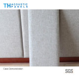 Panneau insonorisé couvert de tissu décoratif amical de fibre de polyester d'Eco pour le panneau de mur