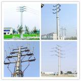 高品質によって電流を通される送電タワー