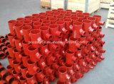 Encaixes de tubulação revestidos Epoxy vermelhos do dreno do ferro de molde de Sml