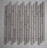 China-Lieferanten-Küche Backsplash weiße Eichen-lineare Marmormosaik-Fliese