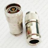 Conector coaxial de la abrazadera del enchufe masculino de N para el cable de LMR400 Rg8 Rg213 7D-Fb