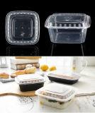 Contenitore di alimento a gettare ecologico biodegradabile del quadrato della casella di pranzo di imballaggio di plastica