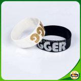 Kundenspezifisches Firmenzeichen-Silikon-Armband mit Glister Technik