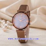 Het Horloge van de Manier van de Riem van het Leer van de Dienst van de Douane van het Horloge van de Fabriek van het horloge (wy-123C)
