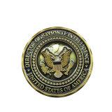 Moneda de oro antiguo desafío personalizados para la policía