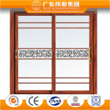 装飾的なガラスが付いているアルミニウム単一のサッシュの開き窓のドア