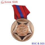 カスタム金属Glodかギフトのためのメダルを投げる銀によってめっきされるメダル