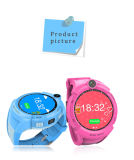 子供円形スクリーンの腕時計の電話WiFi GPSの追跡