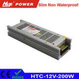 alimentazione elettrica di 12V 16A LED con le HTC-Serie della Banca dei Regolamenti Internazionali di RoHS del Ce