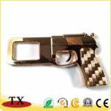 Подгонянная цепь металла формы пушки золота ключевая для сувенира