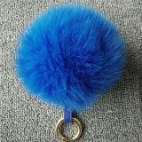 Sfere personalizzate del Pompom della pelliccia di Fox della catena chiave del Pompom della pelliccia