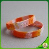 Bunter SilikonWristband mit Strudel-Zoll-Firmenzeichen