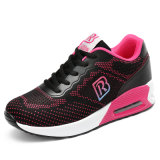 Zapatos preferidos de la aptitud de las señoras del color de Rose que adelgazan los zapatos de Flyknit de los zapatos corrientes